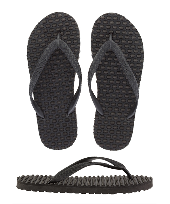 Souls Thongs Comfort Massage Black Out Man