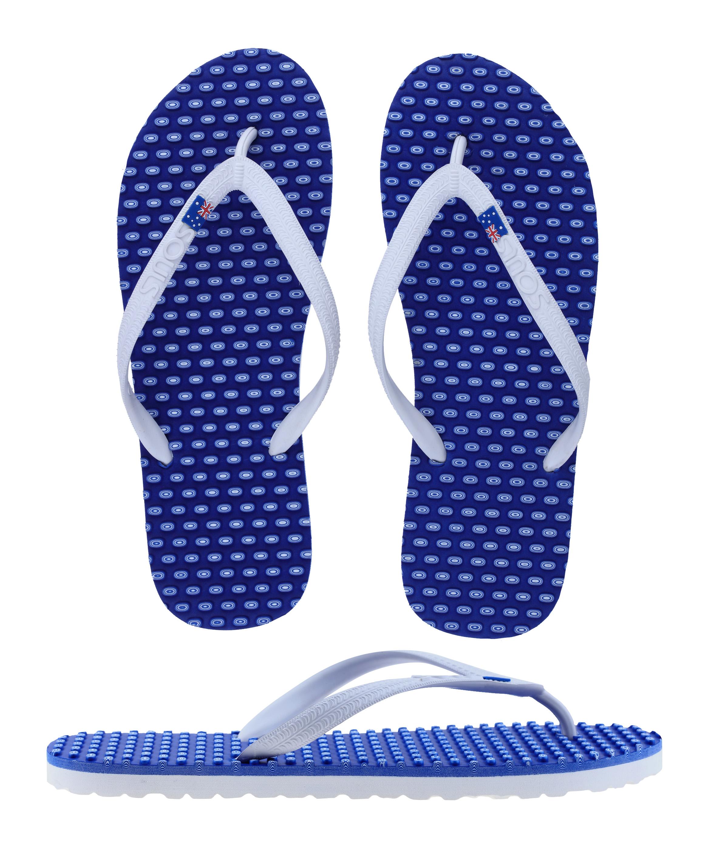 Souls Thongs Comfort Massage Barrier Reef Blue